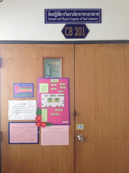 CB 201 ห้องปฏิบัติการวิเคราะห์อาหารทางกายภาพ
